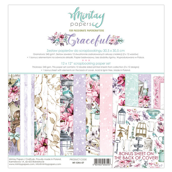 Mintay by Karola - Graceful Collection - 12 x 12 Paper