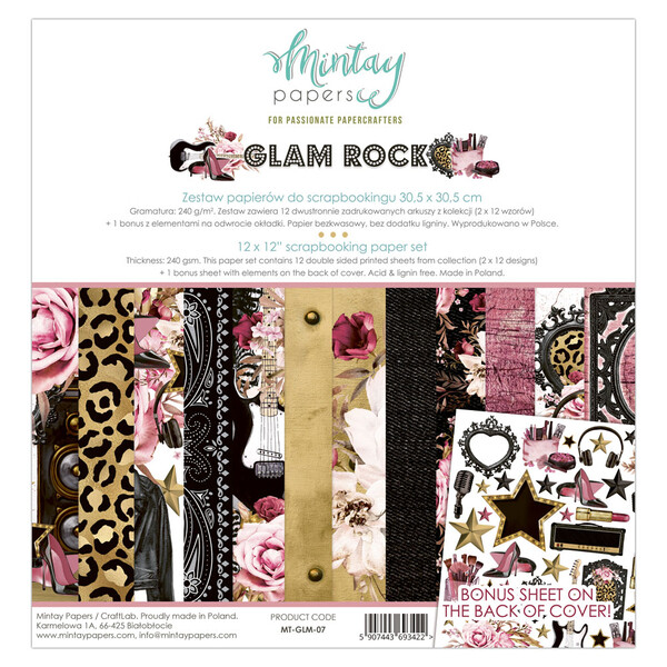 Mintay by Karola - Glam Rock Collection - 12 x 12 Paper