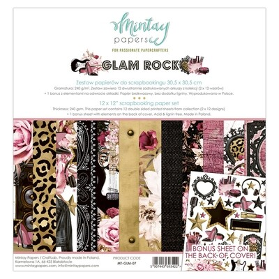 Mintay by Karola - Glam Rock 12 x 12 Paper Collection
