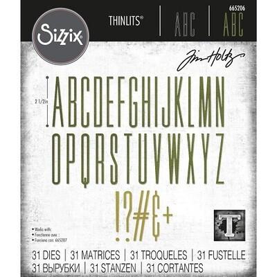 Sizzix - Alphanumeric - Stretch Upper Thinlits Dies by Tim Holtz