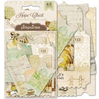 Pink Paislee - Hope Chest Ephemera and Journalling Tags- 42 pieces