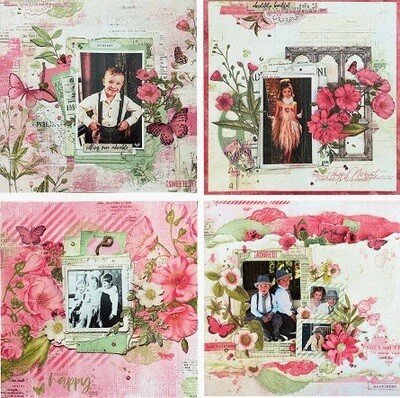 49 & Market 4 Page Layout Class - Vintage Artistry Blush Collection