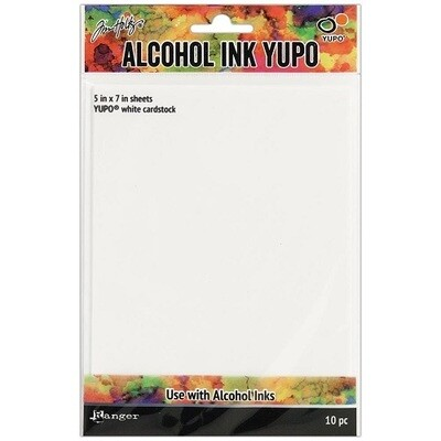 "Tim Holtz - Yupo - Alcohol Ink White Papers 5"" x 7"" - 10 sheets"