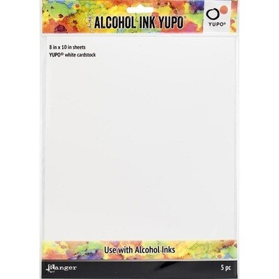 "Tim Holtz - Yupo - Alcohol Ink White Papers 8"" x10"""" - 5 sheets"