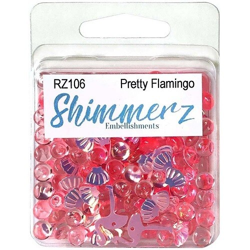 Buttons Galore & More - Shimmerz - Pretty Flamingo