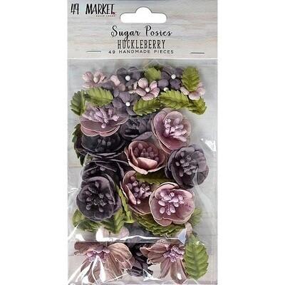 49 & Market Sugar Posies Flowers - Huckleberry