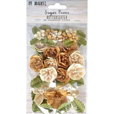 49 & Market Sugar Posies Flowers - Butterscotch