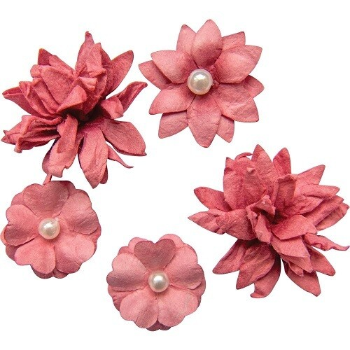 49 and Market - Mini Flower Packs (5 pieces) Scarlet