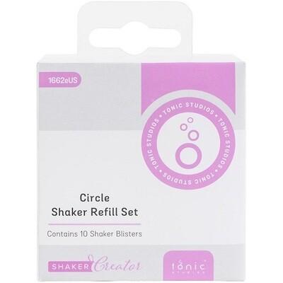 Tonic Studios -  Shaker Refills - Circle - SSSR 1662E -10 Pack