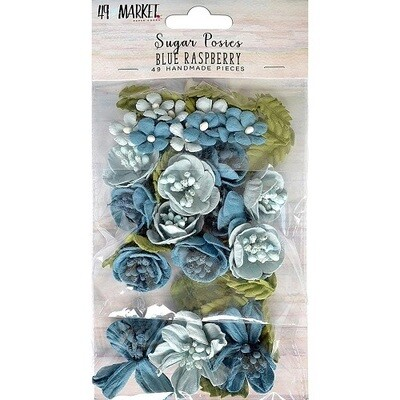 49 & Market Sugar Posies Flowers - Blue Raspberry