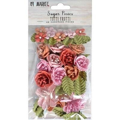 49 & Market Sugar Posies Flowers - Tutti Fruitti