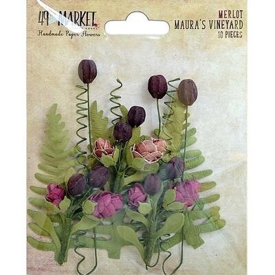 49 & Market - Maura's Vineyard Flowers - Merlot