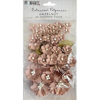 49 & Market Vintage Shades Potpourri Flowers - Hazelnut - 49 pieces