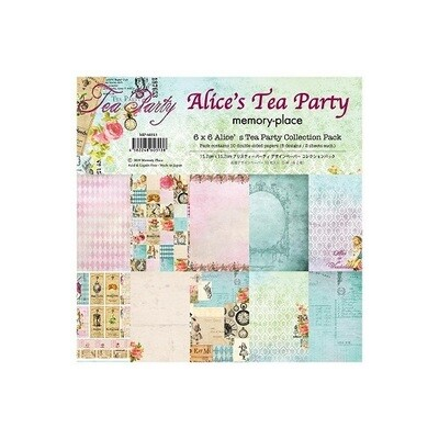"""Memory Place - Alice's Tea Party Collection - 6"""" x 6 ' Paper Pack"""