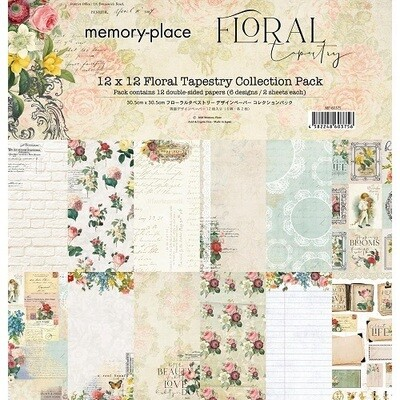 """Memory Place - Floral Tapestry Collection - 6"""" x 6"""" Scrap Pack"""