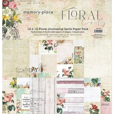 Memory Place - Asuka Studio Floral Tapestry Journaling Cards Paper Pack