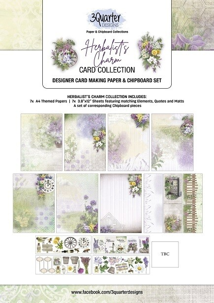 3 Quarter Designs - Card Making Kit - Herbalists Charm Collection