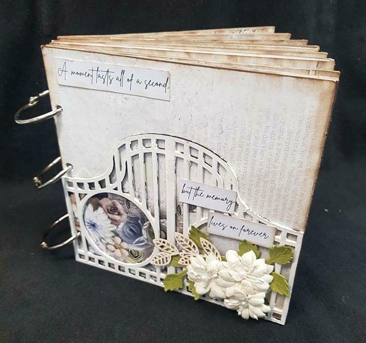 "3 Quarter Designs - 6"" x 6"" Mini Album Base Kit - Whispered Memories"