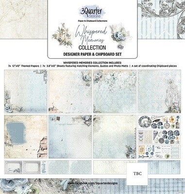 3 Quarter Designs - 12 x 12 Collections - Whispered Memories
