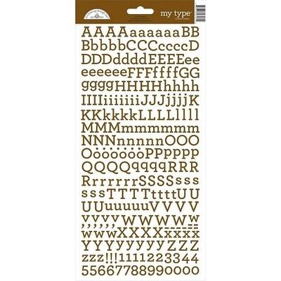 Doodlebug - My Type Alphabet Stickers - Bon Bon