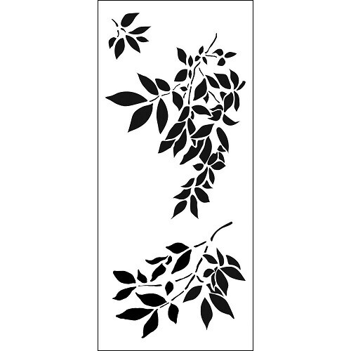 The Crafters Workshop - Slimline Stencil - Gentle Leaves