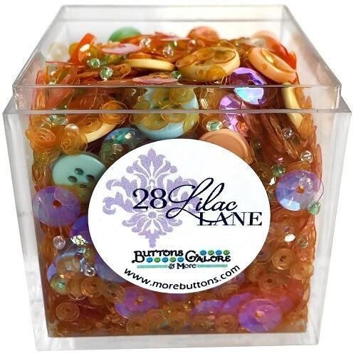 Buttons Galore & More - Lilac Lane - Spring Blooms- Shaker Mixes   65grams