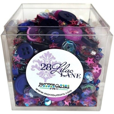 Buttons Galore & More - Lilac Lane - Glittering Stars - Shaker Mixes   65grams