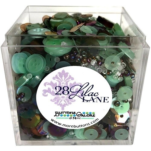 Buttons Galore & More - Lilac Lane - Minty - Shaker Mixes   65grams