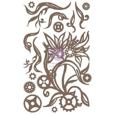 Prima Marketing - Finnabair Chipboard - Steampunk Blooms