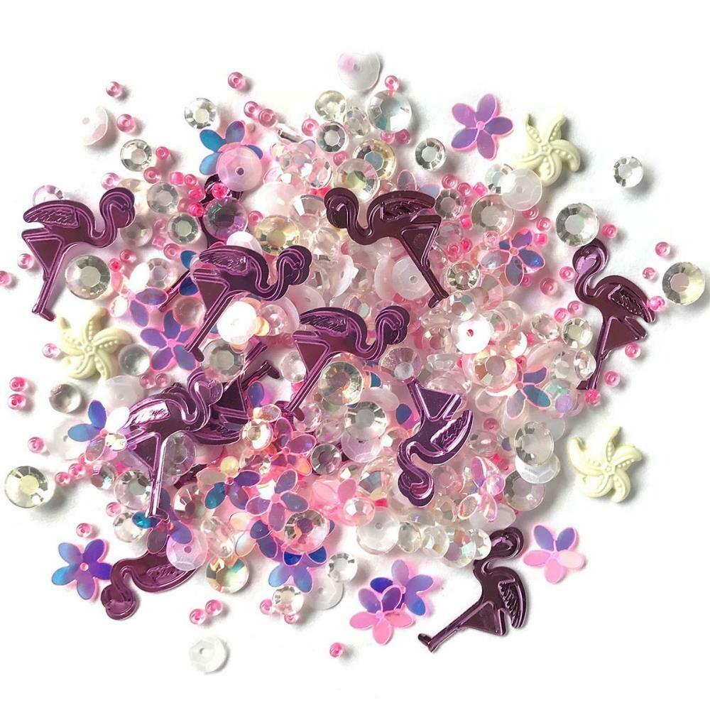 Buttons Galore - Sparkletz - Pink Flamingo - 10gm