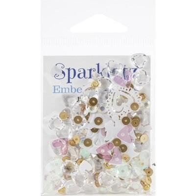 Buttons Galore - Sparkletz - Coral Coast - 10gm