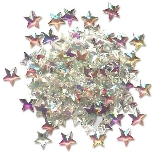 Buttons Galore - Sparkletz - Crystal Stars - 10gm