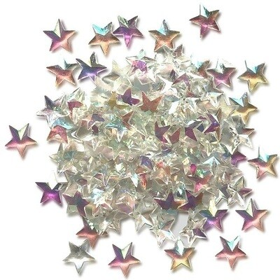 Buttons Galore - Sparkletz - Crystal Stars - 10gm