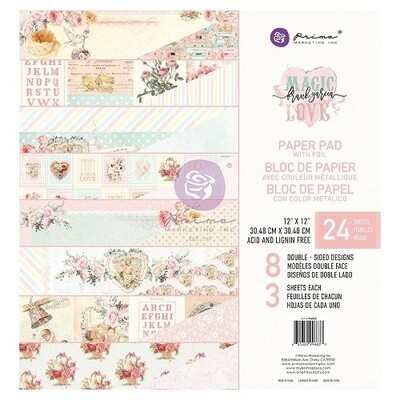 Prima Marketing - 12 x 12 Magic Love Collection with Foil Scrap pad