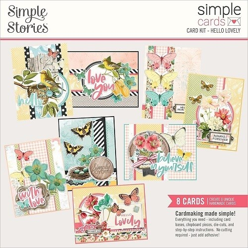 Simple Stories - Card Kit - Simple Vintage Cottage Fields Collection - Hello Lovely