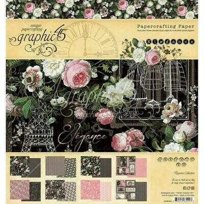 Graphic 45 - Elegance Collection - 8 x 8