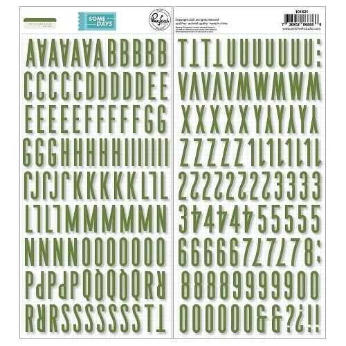 PinkFresh Studio - Some Days Green - Puffy Alphabet Stickers