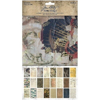 Tim Holtz - Idea-ology -Backdrops - Volume #2