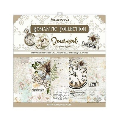 Stamperia - Romantic Collection - Journal - Paper Pad 12 x 12