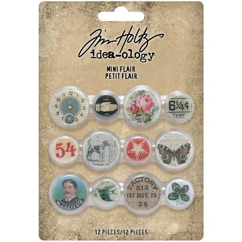 Tim Holtz - Idea - ology - Mini Flair Buttons