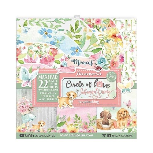"""Stamperia - Circle Of Love Collection - 12"""" x 12"""" Papers - 22 pages - SBBXLB10"""