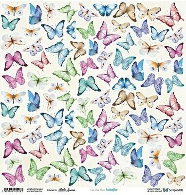 ScrapandMe - Butterflies - Fussy Cutting 12 x 12 Sheet