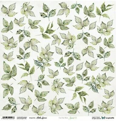 ScrapandMe - Leaves 3 - Fussy Cutting 12 x 12 Sheet