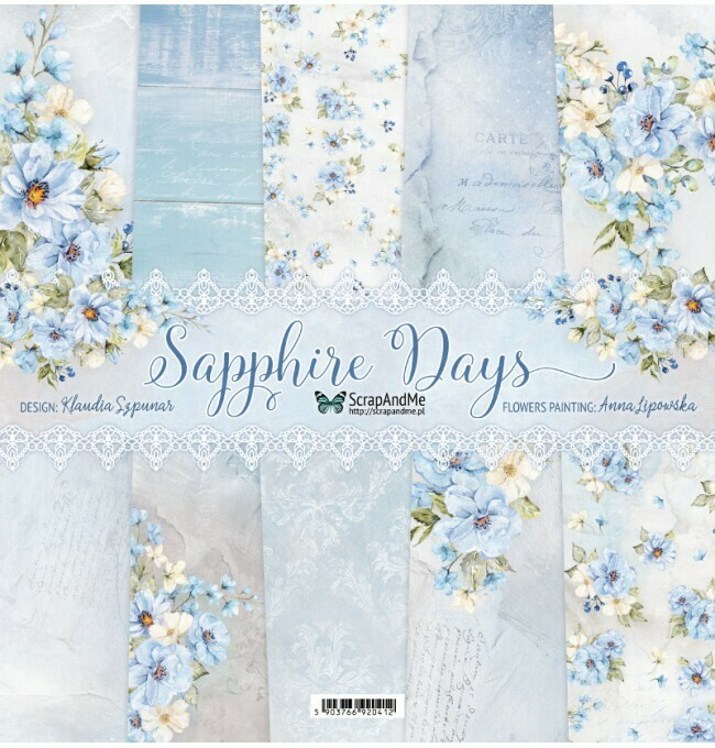 ScrapAndMe - Sapphire Days - 12 x 12 Paper Collection