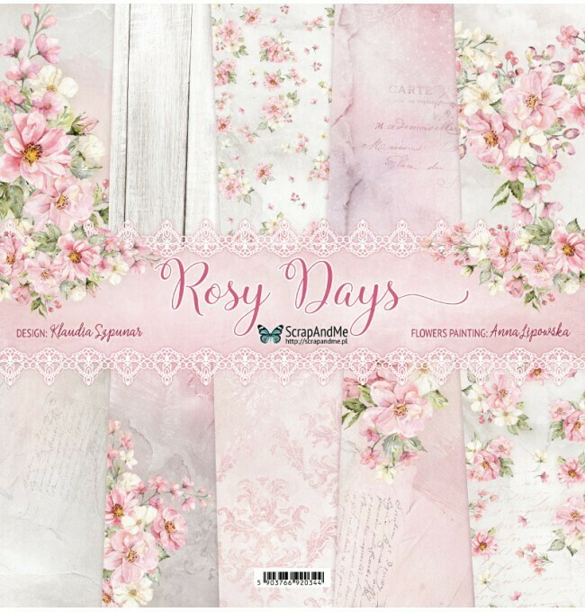 ScrapandMe - Rosy Days - 12 x 12 Paper Collection