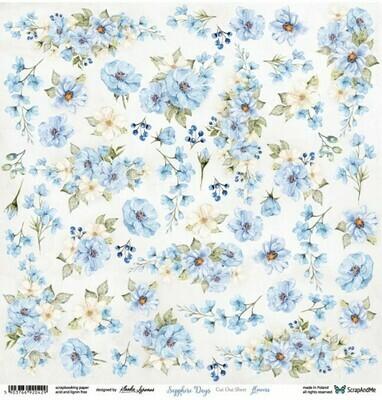 ScrapandMe - Sapphire Days - Fussy Cutting 12 x 12 Sheet