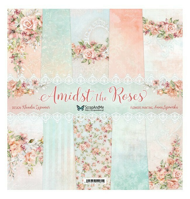 ScrapandMe - Amidst The Roses - 12 x 12 Paper Collection
