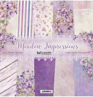 ScrapandMe - Meadow Impressions- 12 x 12 Paper Collection