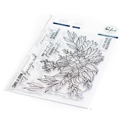 "PinkFresh Studios Stamp - Infinite Blooms 6"" x 8"" - 105821"