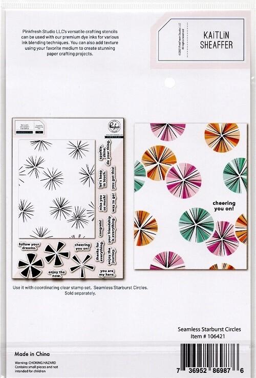 PinkFresh Studios Stamp - Seamless Starburst Circle - 106421